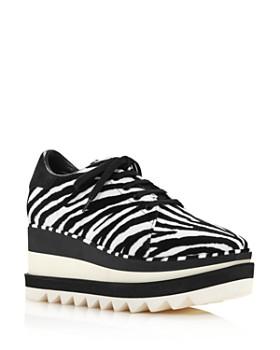 Stella McCartney - Women's Sneak-Elyse Zebra-Print Sneakers