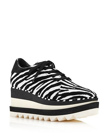 Stella McCartney - Women's Sneak-Elyse Zebra-Print Sneakers