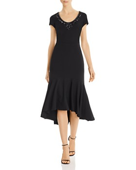 Aidan Mattox - Embellished Crepe Dress