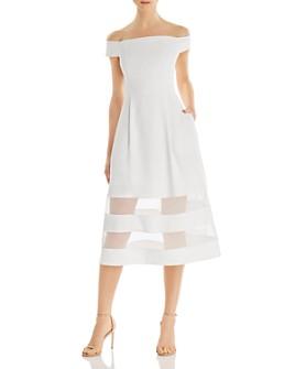 Aidan by Aidan Mattox - Off-the-Shoulder Crepe Dress