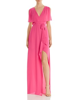 BCBGMAXAZRIA - Georgette Capelet Gown - 100% Exclusive