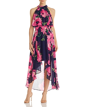 Floral High/Low Dress
