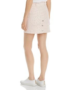 Current/Elliott - The Flute Leopard Print Denim Mini Skirt