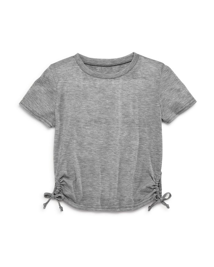 AQUA - Girls' Heathered Bow Tee, Big Kid - 100% Exclusive