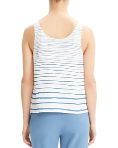 Theory - Striped-Silk Tank