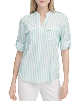 Calvin Klein - Cotton Roll-Sleeve Shirt
