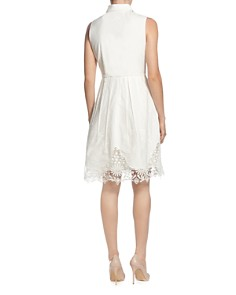 T Tahari - Sleeveless Embroidered Shirt Dress