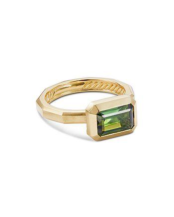 David Yurman - 18K Yellow Gold Novella Ring with Green Tourmaline