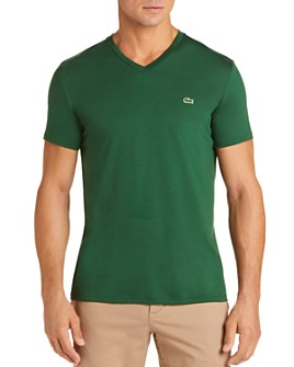 Lacoste - V-Neck Pima Cotton Tee