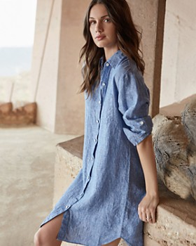 Karen Kane - Linen Shirt Dress