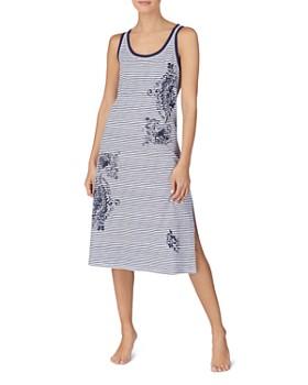 Ralph Lauren - Striped-Floral Ballet Nighgown