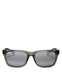 Maui Jim - Unisex Boardwalk Polarized Square Sunglasses, 55mm