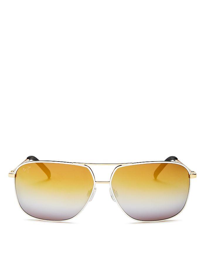 ac387c2f4e717 Maui Jim Unisex Kami Brow Bar Aviator Sunglasses