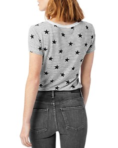 ALTERNATIVE - Ideal Striped Star Print Tee
