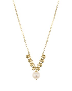 """Nadri - Venice Pearl Necklace in 18K Gold-Plated Sterling Silver, 18"""""""