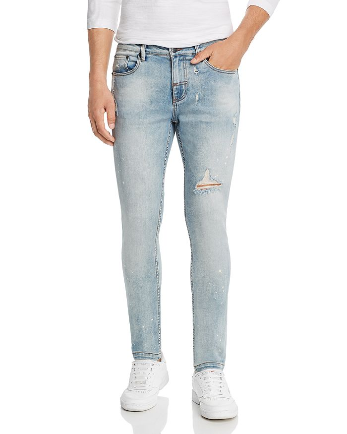 The People Vs. 1990 Destroyed Skinny Fit Jeans In Wasted Indigo