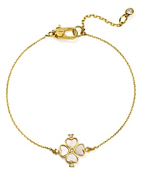kate spade new york - Legacy Logo Spade Flower Solitaire Bracelet in Gold-Plated Sterling Silver