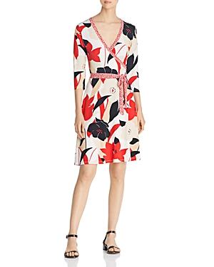 Leota Perfect Wrap Mixed-Print Dress