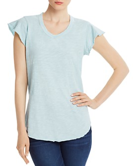 Wilt - Raw-Edge Flutter-Sleeve Tee