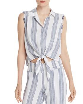 Bella Dahl - Striped Tie-Hem Top