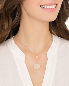 "Swarovski - Ginger Layered Pendant Necklace, 14.9"""