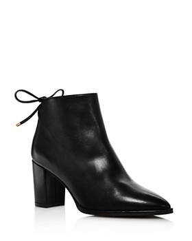 Stuart Weitzman - Women's Gardiner Block Heel Ankle Booties