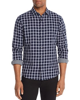 Michael Kors - Nate Double-Faced Plaid Slim Fit Shirt