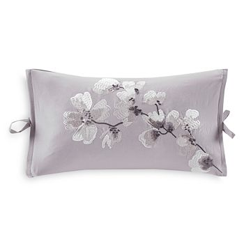 """Natori - Sakura Blossom Oblong Decorative Pillow, 12"""" x 20"""""""