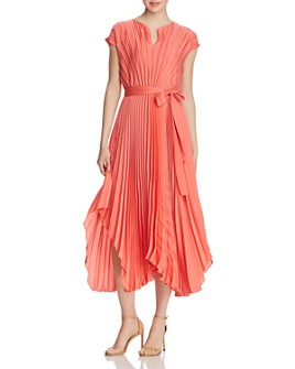 BOSS - Desplaya Cap-Sleeve Pleated Dress