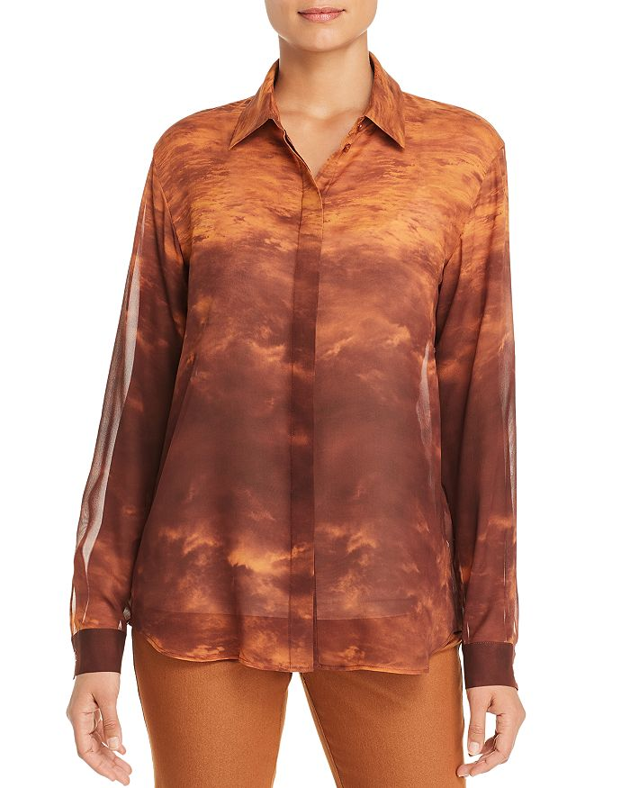 Lafayette 148 New York - Zora Printed Silk Blouse