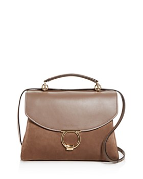 Salvatore Ferragamo - Margot Medium Nubuck Leather Satchel