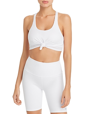 Alo Yoga Tops KNOT-FRONT SPORTS BRA