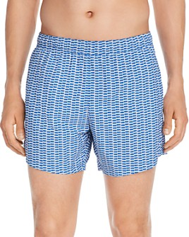 BOSS - Lionfish Geometric-Print Swim Trunks