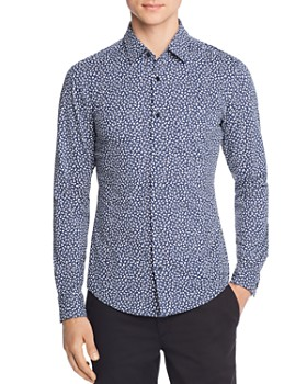 4dbaf1ee6a9 BOSS Hugo Boss - Ronni Floral-Print Jersey Slim Fit Shirt ...