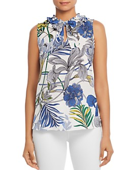 Le Gali - Hillary Sleeveless Printed Ruffled Top