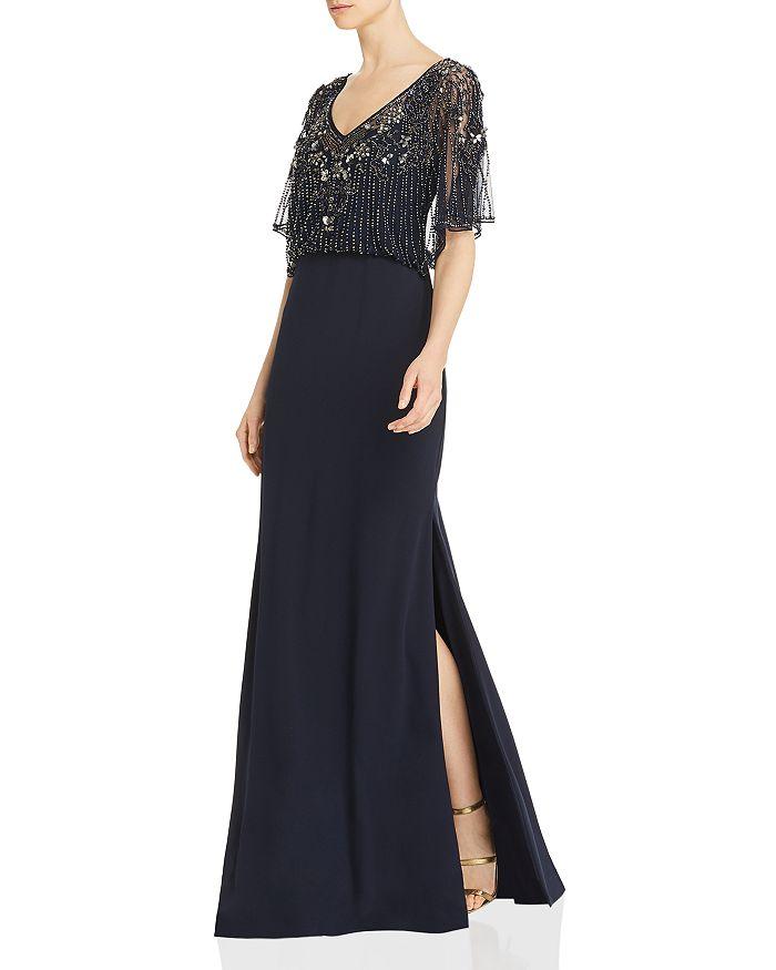 Aidan Mattox - Embellished Blouson Gown