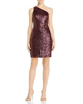 Aidan Mattox - Sequin One-Shoulder Cocktail Dress