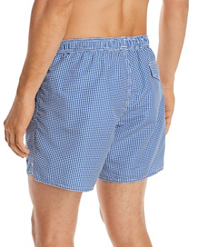 Armani - Geometric-Print Swim Shorts