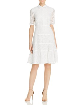 aa439443842c nanette Nanette Lepore - Lace Shirt Dress ...