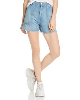 rag & bone - Super High-Rise Army Denim Shorts in Clean Frant