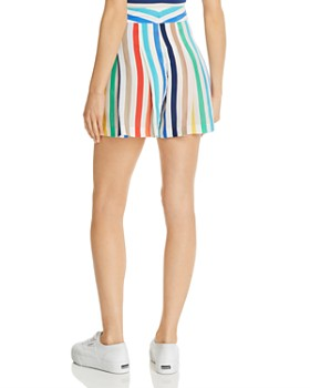 91cf5368f38 ... Alice and Olivia - Scarlet Pleated Rainbow-Stripe Shorts