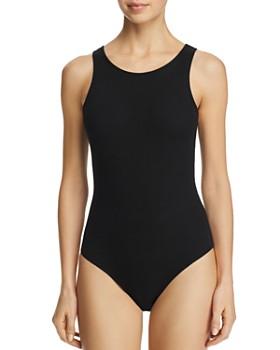 AQUA - Rib-Knit Bodysuit - 100% Exclusive