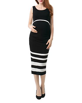 Kimi & Kai - Miranda Sleeveless Color-Block Maternity Dress