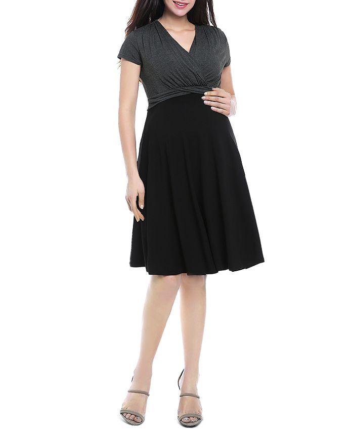 Kimi & Kai - Sarah Two-Tone Maternity Dress