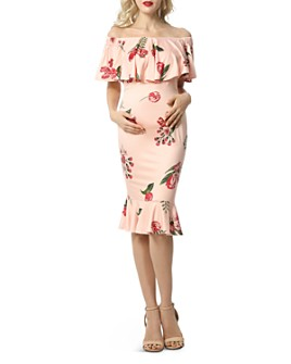 Kimi & Kai - Cleo Off-The-Shoulder Nursing Dress