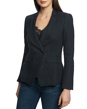 1.state Double-Breasted Linen Blazer