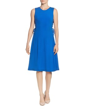 T Tahari - Sleeveless Side-Lace-Up Dress
