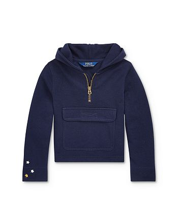 Ralph Lauren - Girls' French Terry Half-Zip Hoodie - Little Kid