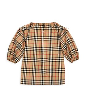 Burberry - Girls' Alenka Check Dress - Little Kid, Big Kid