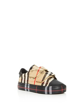 Burberry - Unisex Charlton Contrast Check Low-Top Sneakers - Walker, Toddler
